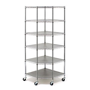 mark heavyduty steel 6tier corner shelving unit