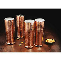 Member's Mark 20 oz Double Walled Hammered Pilsner, Set of 4
