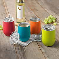 Member's Mark Insulated Wine Glass 4 Pk Set, Bright