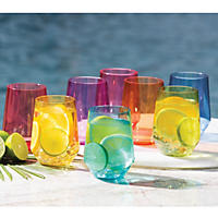 Member's Mark Tritan Stemless Wine Glasses, 8 Pack (Multi)