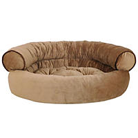 D - Canine Creation Sofa Style Pet Bed with Bonus Travel Bed, Toasted Coconut