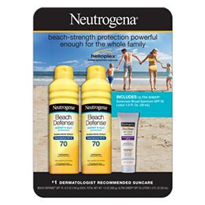 Neutrogena Beach Defense Sunscreen Value Pack Samsclub