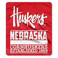 "NCAA Double Sided Throw 60"" X 70"", Nebraska"