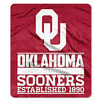 "NCAA Double Sided Throw 60"" X 70"", Oklahoma"