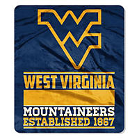 "NCAA Double Sided Throw 60"" X 70"", West Virginia"