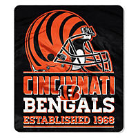 "NFL Double Sided Throw 60"" X 70"", Bengals"
