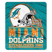 "NFL Double Sided Throw 60"" X 70"", Dolphins"