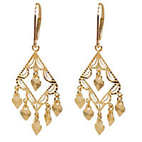 Filigree Chandelier Earrings in 14K Yellow Gold