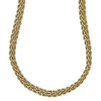 Three Row Rope Necklace in 14K Gold