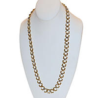 Faceted Bead Links Necklace in 14K Two Tone