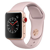 Apple Watch Series 3 38MM Gold Aluminum Case with Pink Sand Sport Band (GPS + Cellular)