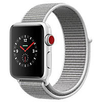 Apple Watch Series 3 38MM Silver Aluminum Case with Seashell Sport Loop (GPS + Cellular)