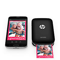HP Sprocket Photo Printer - Black (with Bonus Pack of Zink Photo Paper - 20 Sheets)
