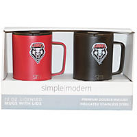 2pk Licensed SS Mug New Mexico Lobos