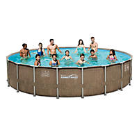"20' x 48"" Summer Waves Elite Frame Swimming Pool Set"