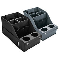 Member's Mark 2 Pack Car Organizer Set-Black