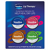 Vaseline Lip Therapy Tins Variety Pack (0.6 oz., 4 pk.)