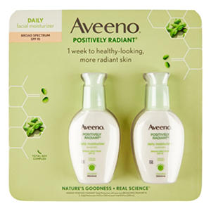 Aveeno Positively Radiant Daily Moisture with SPF 15 (8 fl. oz., 2 pk.)