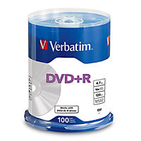 Verbatim DVD+R Life Series 4.7GB 16x, 100 Pack