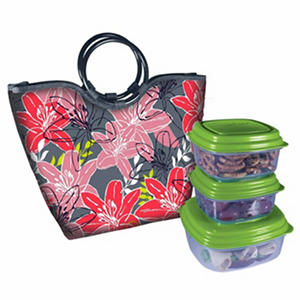 Fresh Amp Fit Women S Lunch Bag Pink Red Flowers Samsclub