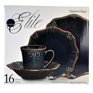Gibson Elite Fleur Dinnerware - 16 Pc. - Denim Sc 1 St Sam\\u0027s Club Auctions  sc 1 st  pezcame.com & Elite Gibson Dinnerware \u0026 Gibson Elite Fleur Dinnerware - 16 Pc ...