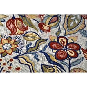 Home Dynamix Cloudwalk Orthopedic Foam Rug Red Blue White Flowers