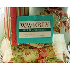 Waverly Glorious Garden 7 Piece Comforter Set   King