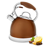Wolfgang Puck Stainless-Steel Tea Kettle - Bronze