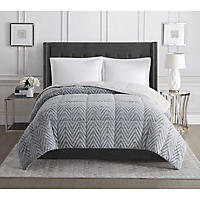 Siriano Queen Faux Fur Comforter (Grey)