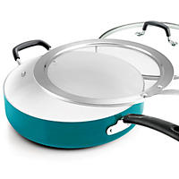 Tramontina Deep Saute Pan Set, 3-piece (Teal)