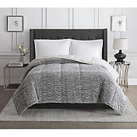 Christian Siriano Faux Fur Comforter Chocolate - Queen