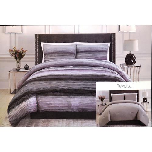 christian siriano 3-piece comforter set, king (purple) | samsclub