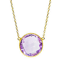 12 CT. T.W. Amethyst Pendant in 14K Yellow Gold