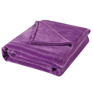 Laura Ashley Throw Blanket 60 In X 70 In Purple