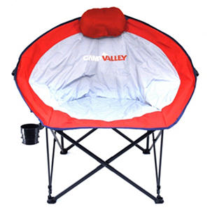 Camp Valley Oversized Round Camp Chair Red Gray