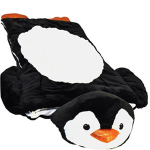 0a6102ecd1 Take your kids on an adventure with this animal sleeping bag. The sleeing  bag features a plush animal cushion and is made of super-soft faux fur that  will ...