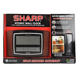 Sharp Digital Clock Atomic Clock Cherry Samsclub Com
