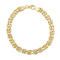 Italian Byzantine Bracelet in 14K Yellow Gold