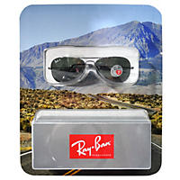 (Free Shipping)Ray-Ban Polarized Sunglasses, Silver-Tone