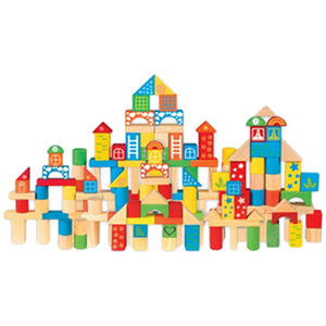 Wooden Blocks Set With Storage Tub   200 Pc. Shapes