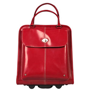 Wilson S Leather Wheeled Tote Red Samsclub Com Auctions