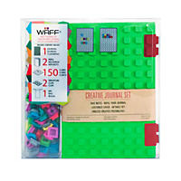 WAFF World Gifts Large Notebook and 100-Cube Combo, Lime