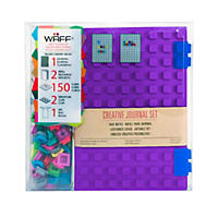 WAFF World Gifts Large Notebook and 100-Cube Combo, Purple