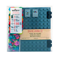 WAFF World Gifts Large Notebook and 100-Cube Combo, Grey