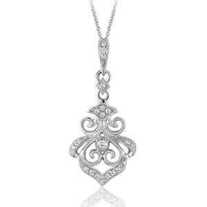 012 ct tw vintage style diamond pendant in stering silver h i tw vintage style diamond pendant in stering silver h i i1 mozeypictures Gallery