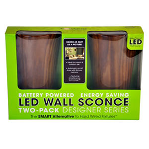 LED Wall Sconce Battery Powered   Cherry