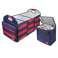 Arctic Zone Trunk Organizer and Insulated Cooler Set - Red/Navy