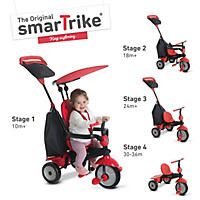smarTrike Glow 4-in-1 Baby Trike (Red)