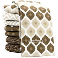 (Free Shipping)Cuisinart Kitchen Towels, 8 Pack - Taupe