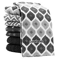 (Free Shipping)Cuisinart Kitchen Towels, 8 Pack - Grey